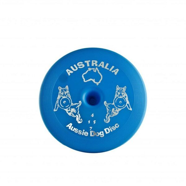 Blue frisbee for dogs