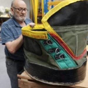 Joe making an elephant boot