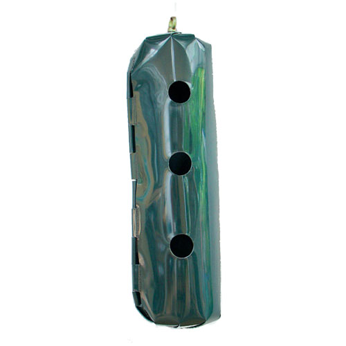 green forage food bag with three holes