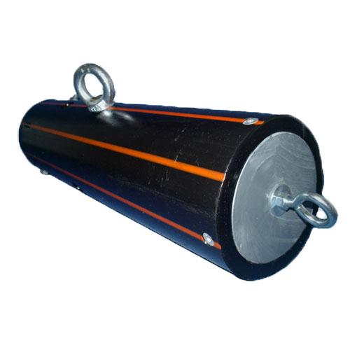 black tucker bin tube with orange stripes