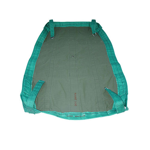 large green canvas hammock with straps