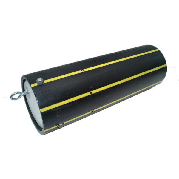 closed black food tube made of firehose