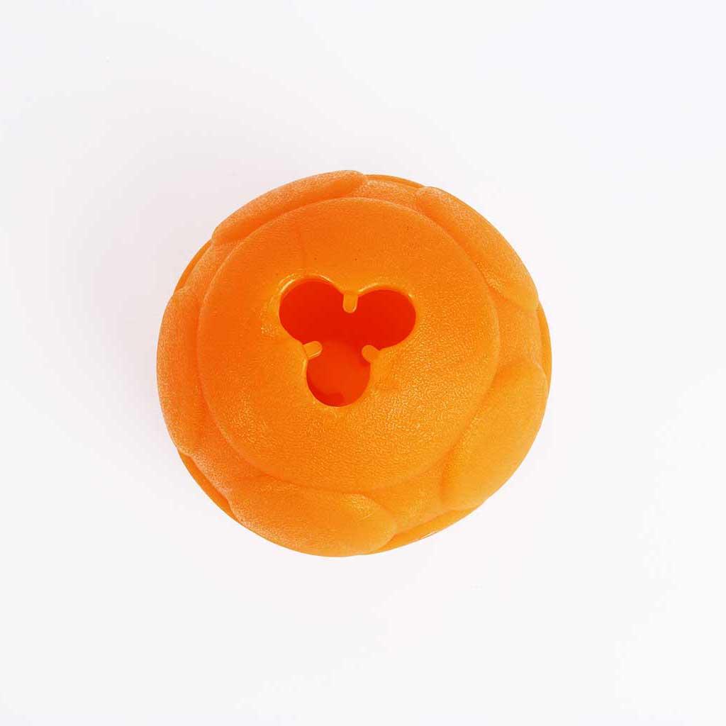 medium orange ball with hole