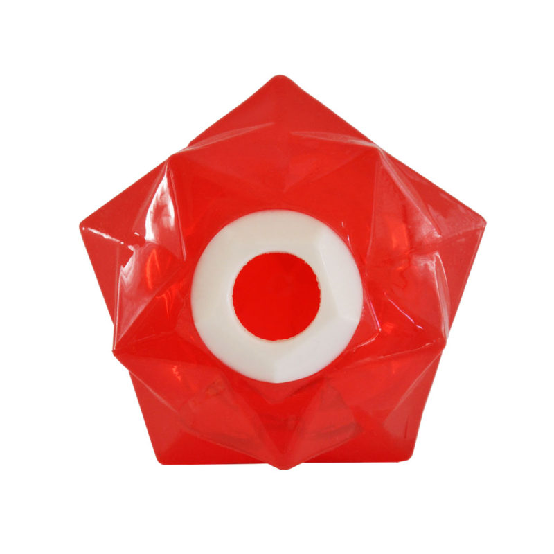 Aussie Dog Products Monster Treat Ball Red Front View