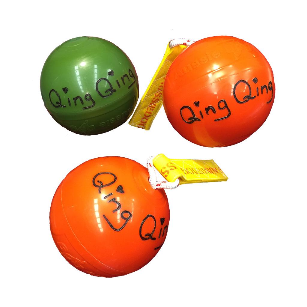 Panda Ball Custom Engraving Qing Qing