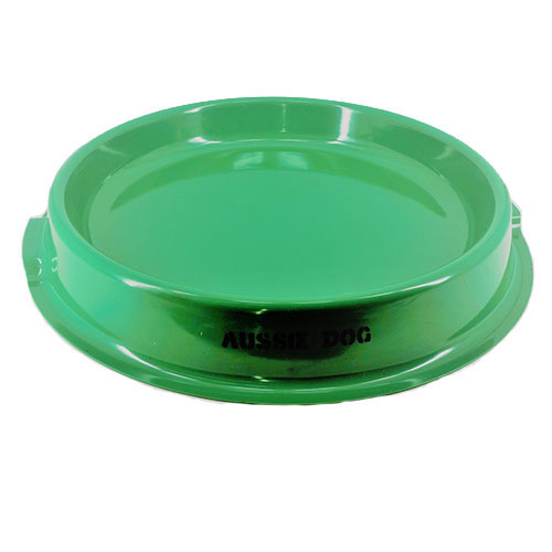 large green bowl with flat surface