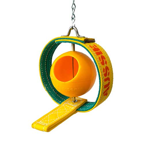 bird feeder with ball and perch