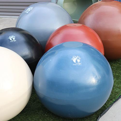 set of large plastic balls