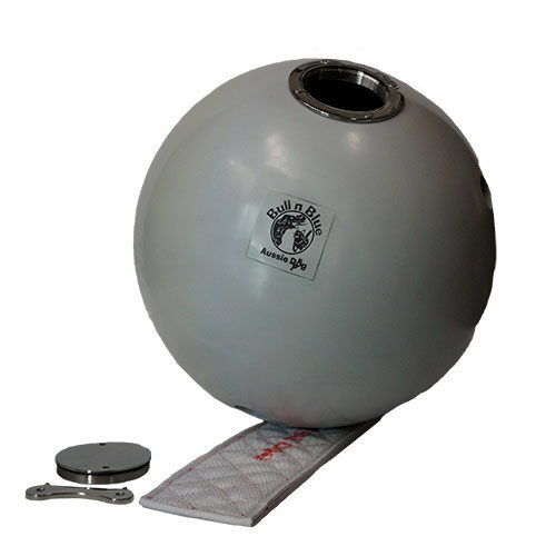 large ball with thong and metal cap
