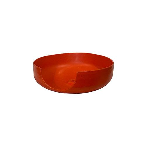 plastic half sphere tray orange