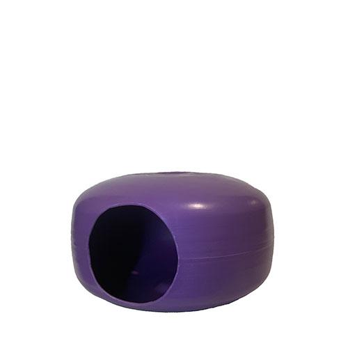 purple plastic sphere with hole